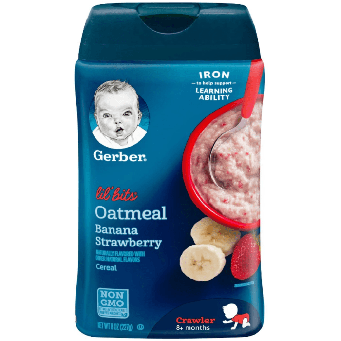 Gerber Lil' Bits Oatmeal Banana Strawberry Baby Cereal