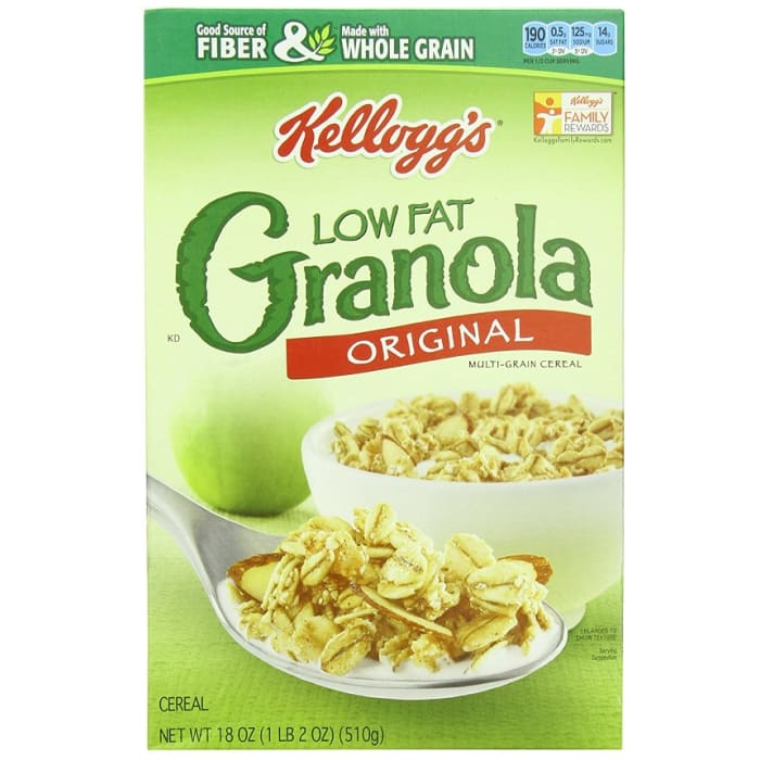 Kellogg's Low Fat Granola Without Raisins Cereal