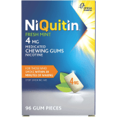 NiQuitin Fresh Mint Medicated Chewing Gums Nicotine 4mg | Stop Smoking Aid