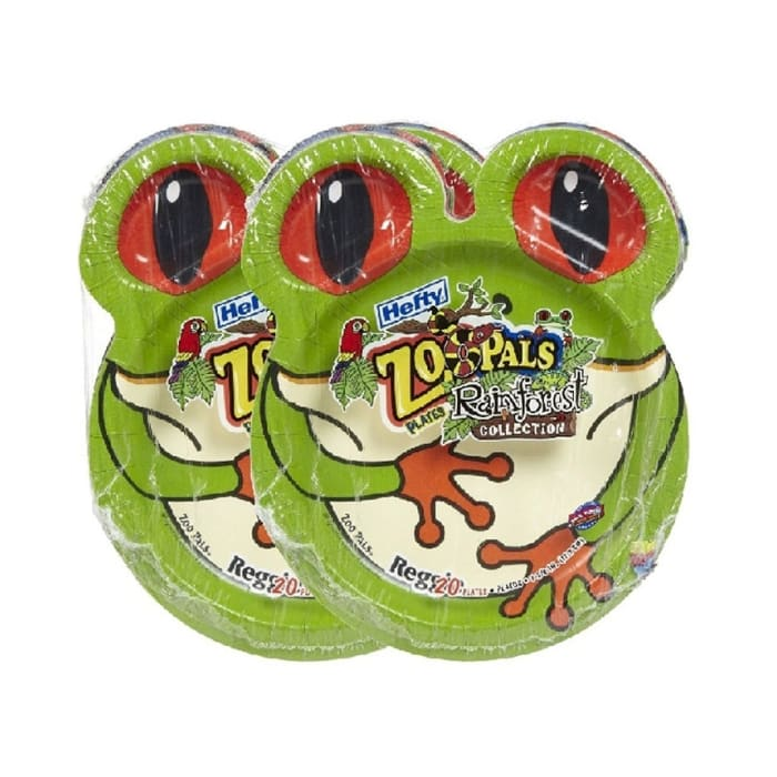 Zoo Pals Disposeable Items Paper Plates For Dipping Hefty 18.7cm