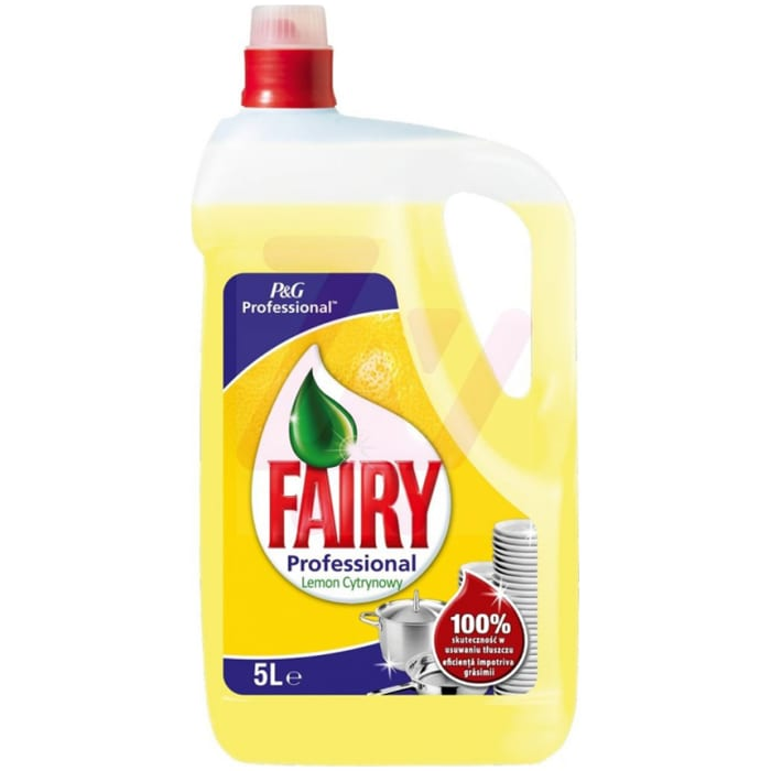 Fairy Professional Household Liquid Washing Up Liquid Bottle 5Ltr