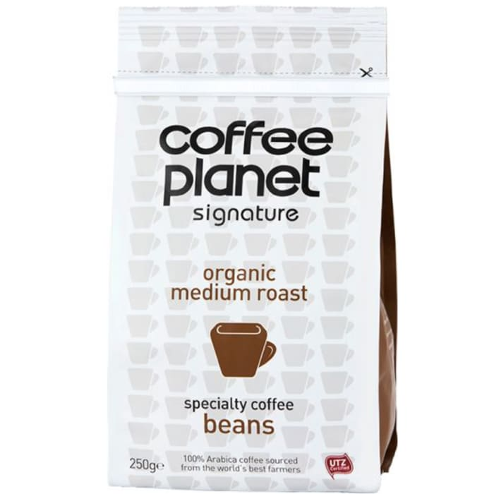 Coffee Planet Whole Beans Caffeinated Traditional