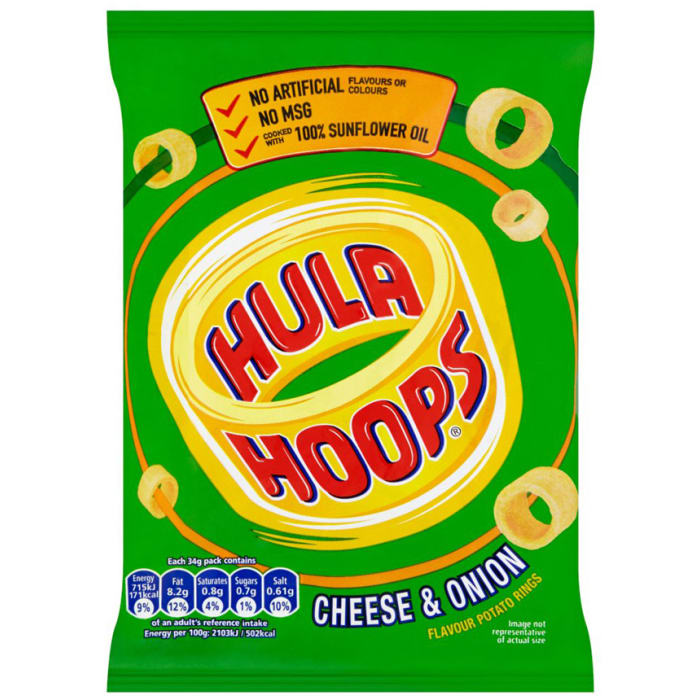 Image result for hula hoops chips cheese & onion