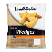 Lamb Weston Seasoned Skin On Wedges 2.5kg