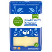 Simple Truth Organic Sharp White Cheddar 8Slice 170g