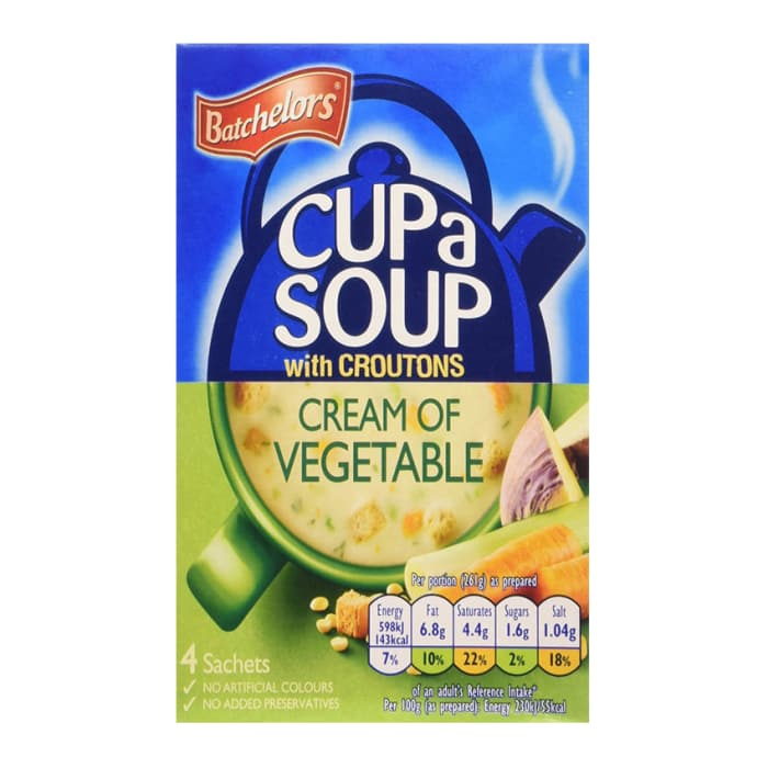 Batchelors  Cream Of Vegetable With Croutons Cup A Soup