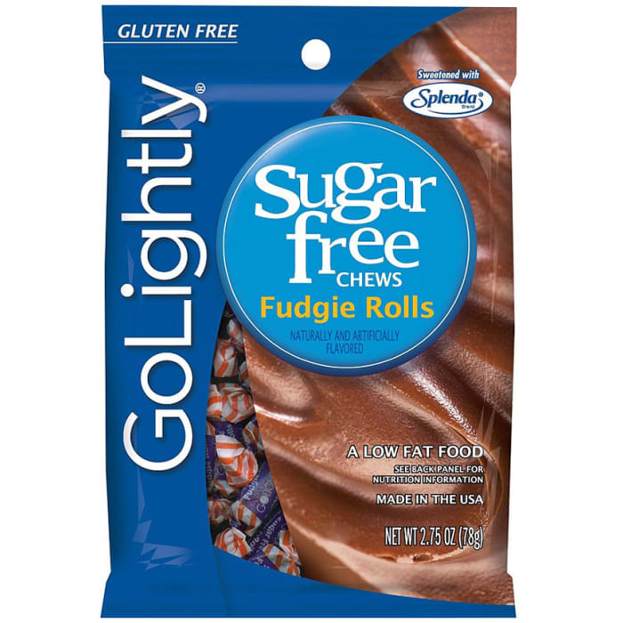 GoLightly Sugar Free Fudgie Rolls Candy