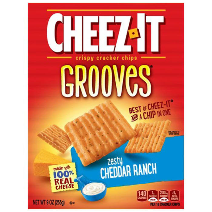Cheez It Cracker Grooves Loaded Cheesy Taco 255g