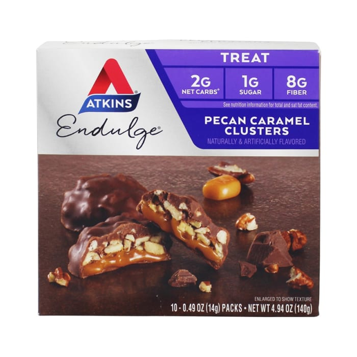 Atkins Endulge Treat 5 Packs Bar Pecan Caramel Clusters 140g