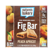 Natures Bakery Whole Wheat Fig Bar Peach Apricot 340g
