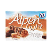 Alpen Light Chocolate and Fudge 5 Bars 95g