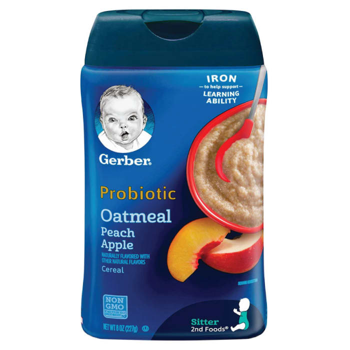 Gerber Probiotic Oatmeal & Peach Apple Baby Cereal