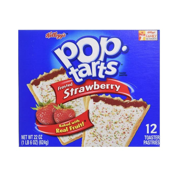 Kellogg's Fruit Snack Starwberry Pop Tarts