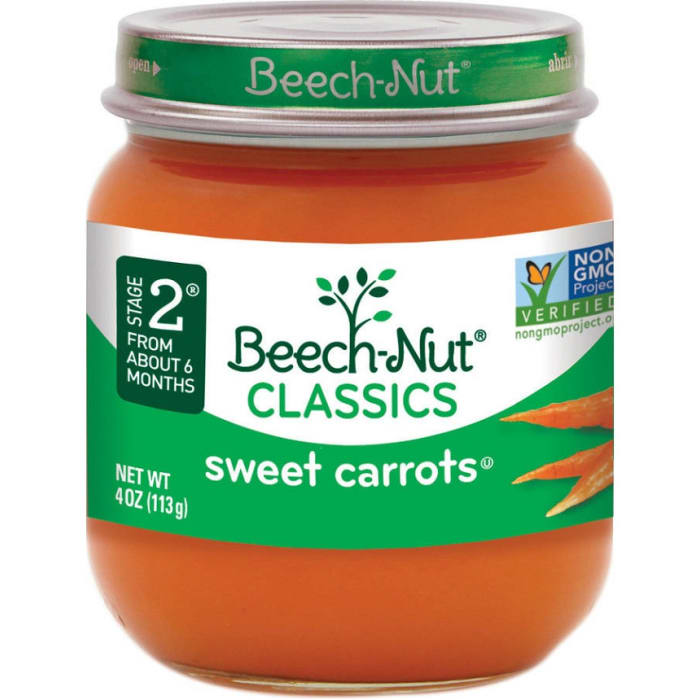 Beech Nut Tender Sweet Carrots Baby Food Stages 2