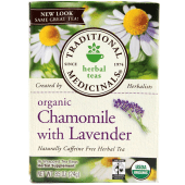 Traditional Medicinals Caffeine Free Organic Chamomile With Lavender Herbal Tea