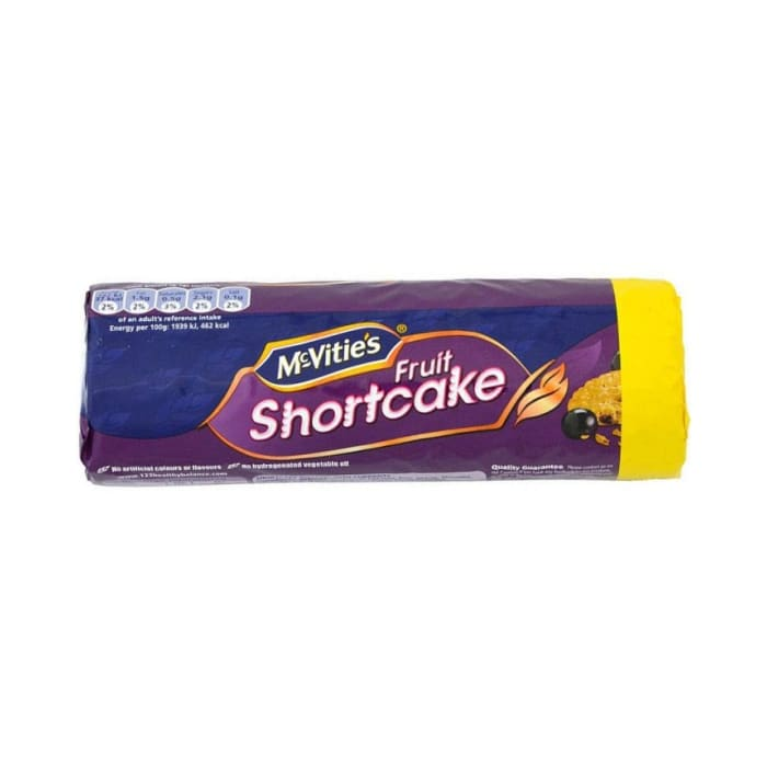 McVities Biscuits No Added Sugar Fruit Short Cake