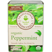 Traditional Medicinals Caffeine Free Organic Herbal Tea Peppermint