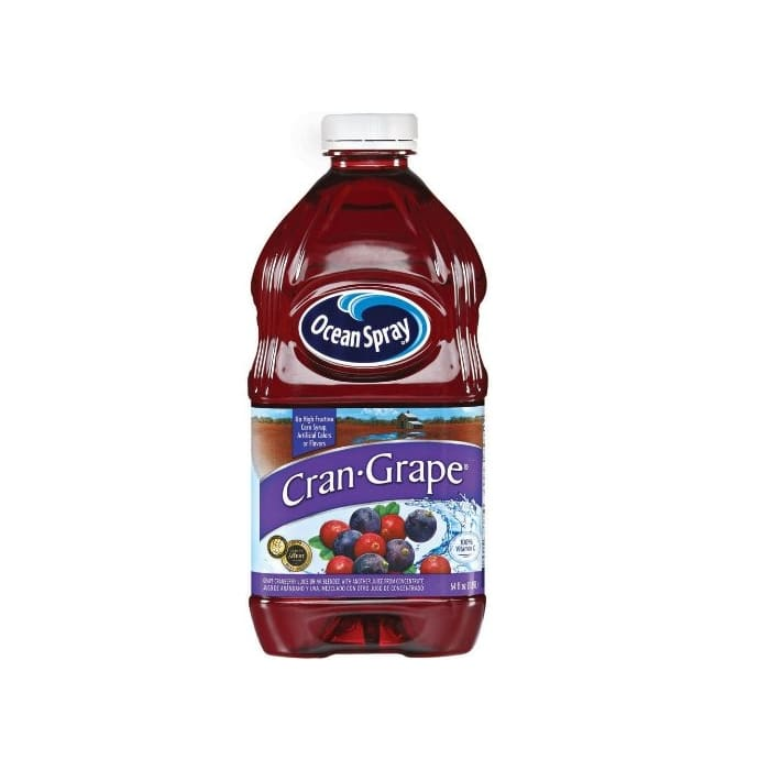 Ocean Spray 100% Cranberry & Grape Juice Bottle