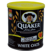 Quaker Quick Cooking White Oats Cereal Tin