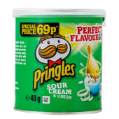 Pringles Sour Cream & Onion Potato Chips 40g