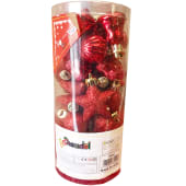 Chamdol Xmas Ornaments Gold Silver & Red