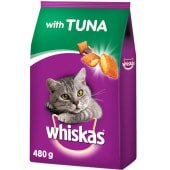 Whiskas Tuna Dry Food Adult Cat 480g