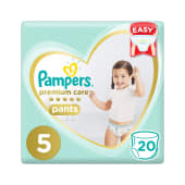 Pampers Premium Care Pants Size 5 Diapers 20 Counts