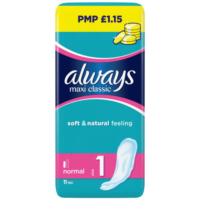 Always Maxi Pads Soft & Natural Sanitary Towels