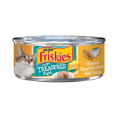 Friskies Tasty Treasures Pate Chicken & Ocean Fish Dinner with Cheese Cat Food 156 Grams