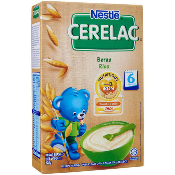 Nestle Cerelac Beras Rice 225 Grams