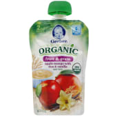 Gerber 2nd Foods Organic Pouches Apple Mango With Rice & Vanilla 100g