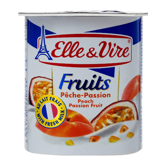 Elle & Vire Peach Passion Yogurt