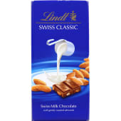 Lindt Swiss Classic Milk Chocolate with Gently Roasted Almonds