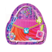 Glitzy Girl Purse Shaped Melamine Snack Plates
