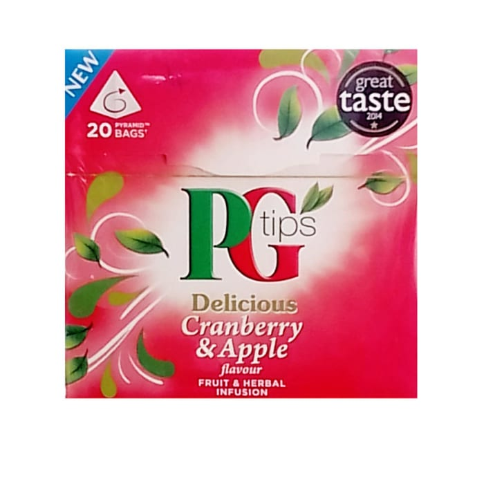 PG TIPS Pg Tips Delicious Cranberry & Apple Herbal Tea