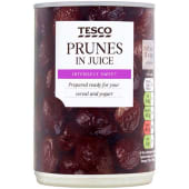 Tesco Prunes In Juice 410g