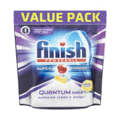 Finish Quantum Max Powerball Super Charged Lemon Sparkle 72 Dishwasher Tablets