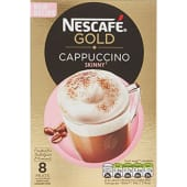 Nescafe Gold Cappuccino 8 Mug Original Coffee