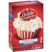 Orville Redenbacher's Tender White Popcorn blended with Real Butter 100% Whole Grain