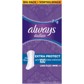 Always Dailies Extra Protect Long Plus 44 Count