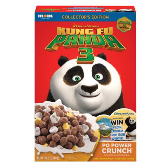 Dreamworks Kung Fu Panda Po Power Crunch Cereal