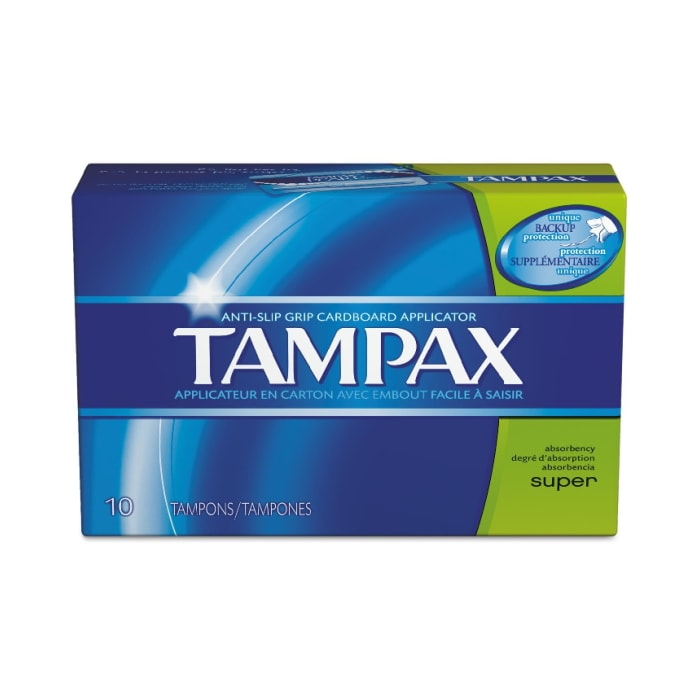 Tampax Cardboard Applicator Tampons Super Absorbency