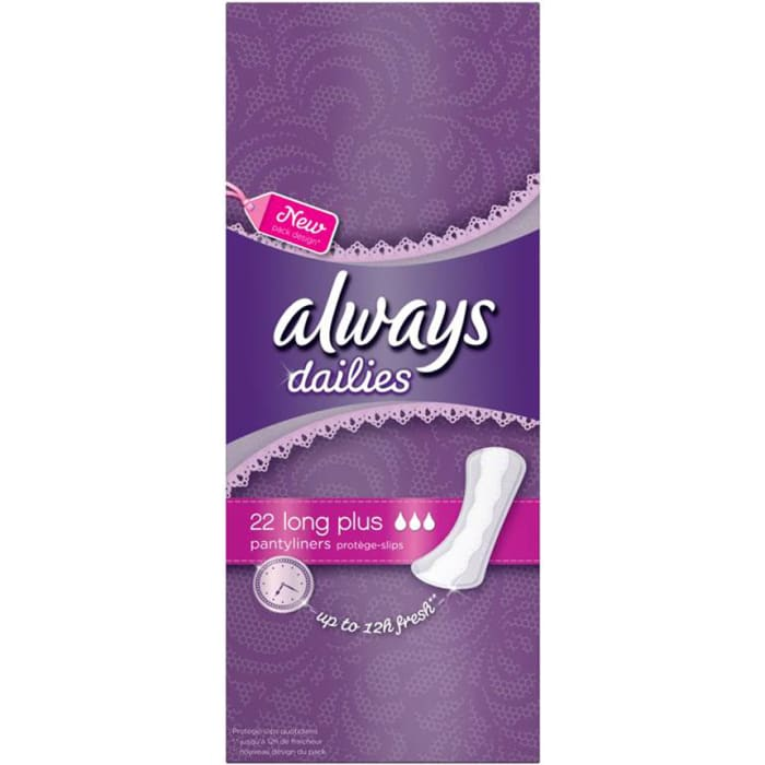 Always Dailie Extra Protect Long Plus Panty Liners 24Count