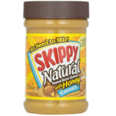 Skippy Natural Peanut Butter Honey Creamy Spread