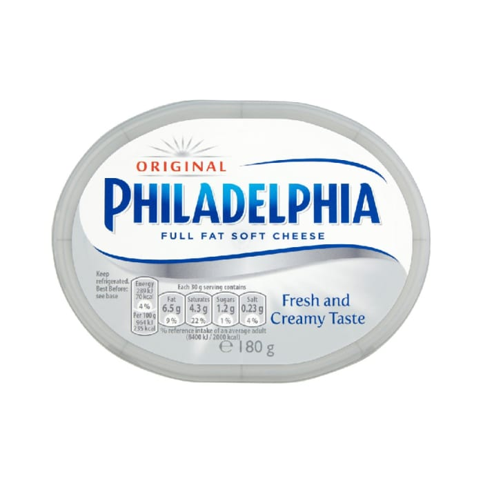 Philadelphia Original Soft White Cheese 180 Grams