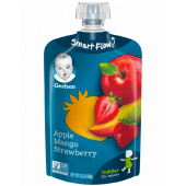 Gerber Baby Food Pouch Apple Mango Strawberry 120g
