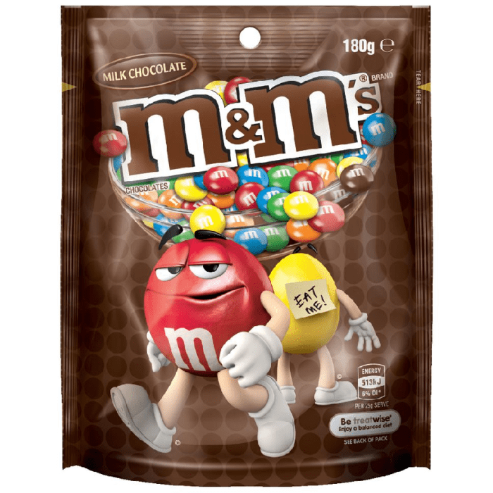 M&M's Chocolate Pouch 180 Grams