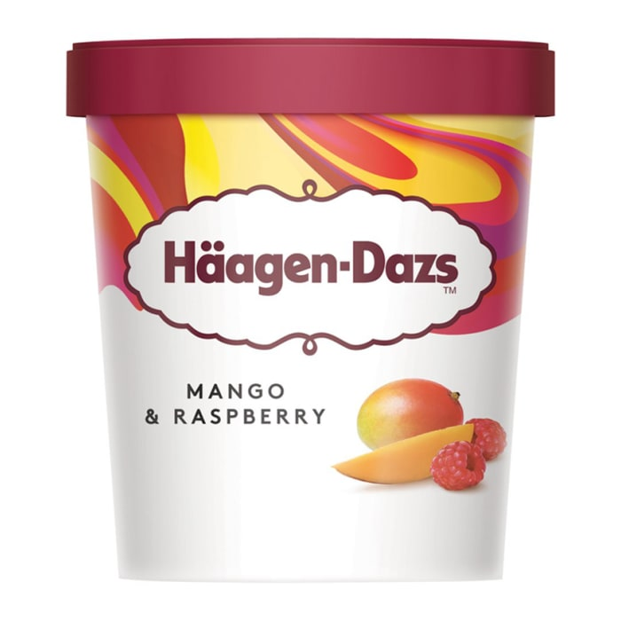 Haagen Dazs Mango & Raspberry Ice Cream