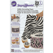 Wilton Sugar Sheets Edible Decorating Paper Zebra Print