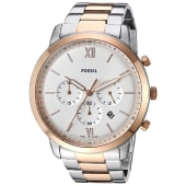 Fossil Men's Neutra Chronograph Two Tone Silver & Gold Stainless Steel Watch FS5475